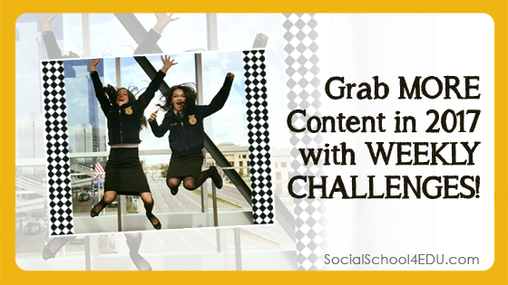 Grab More Content in 2017 with Weekly Challenges!