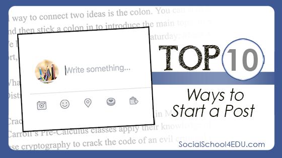 Top Ten Ways to Start a Post