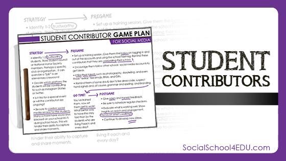 Student Contributors for Social Media