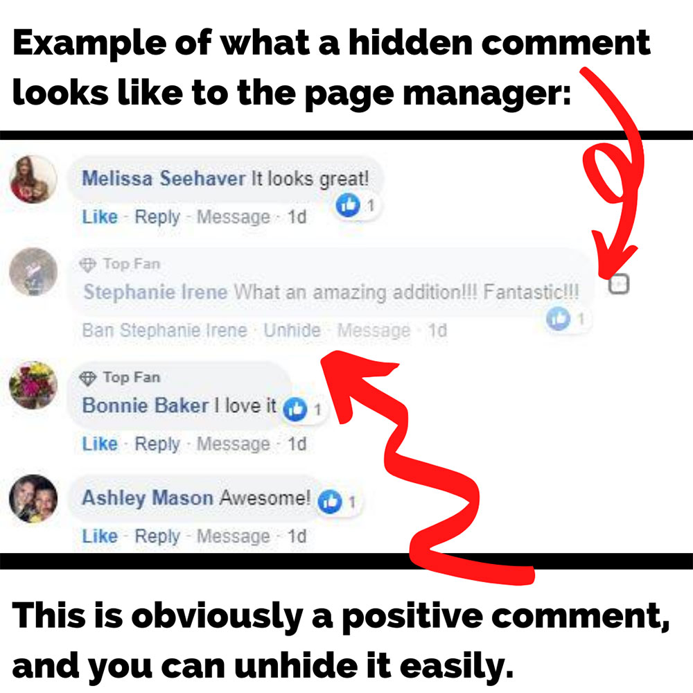 Controlling Comments on Facebook