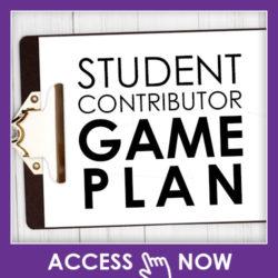 Student Contributor Game Plan
