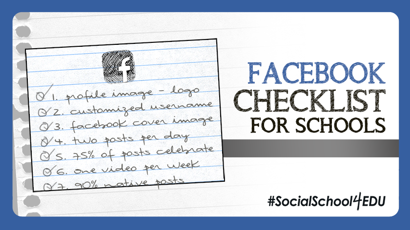 Facebook Checklist for Schools